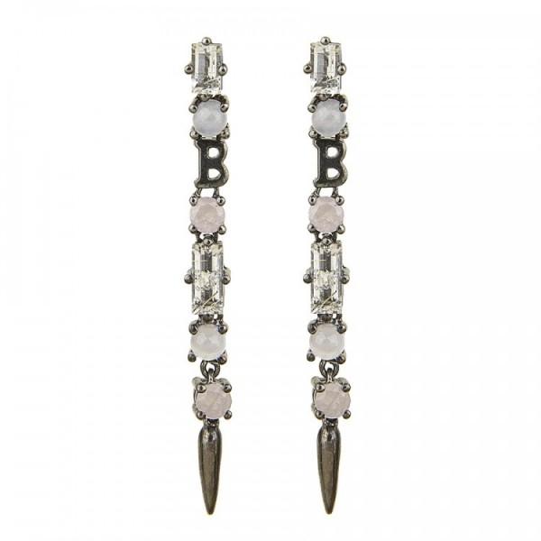 Silver Earrings Balmain Paris 10320743