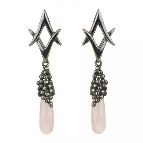 Silver Earrings Balmain Paris 10320745
