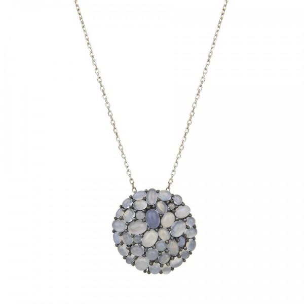 Silver Necklace Balmain Paris 10520651