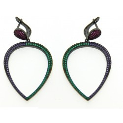 Silver Earrings Verita. True luxury 10323393